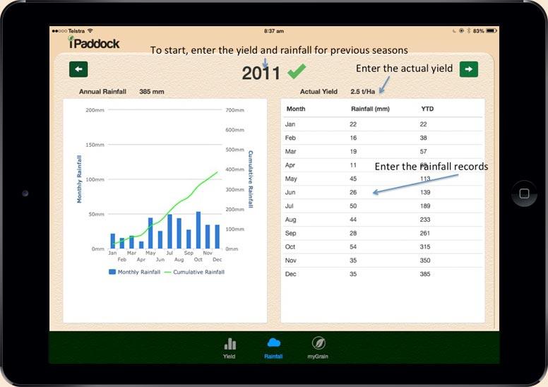 iPaddockYield Slide 1